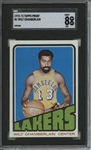 1972 Topps #1 Wilt Chamberlain 9 card progressive proof.