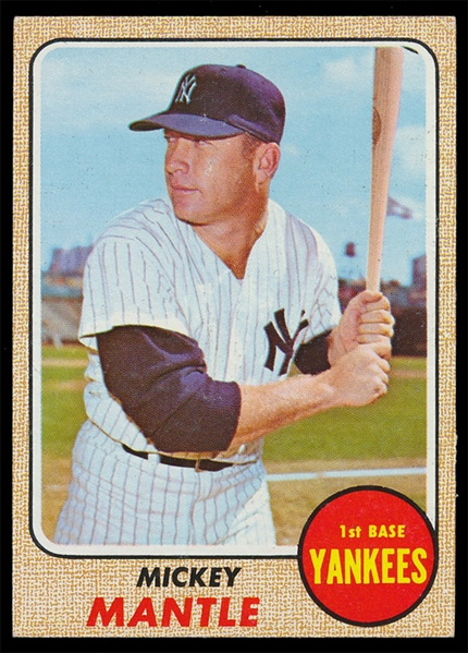 BB 68T #280 Mickey Mantle