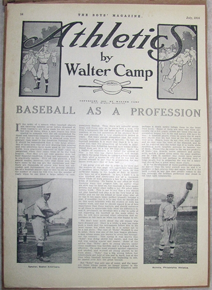 BB Walter Camp story with Tris Speaker