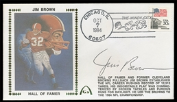 FB Jim Brown 1984 Auto. Gateway Cachet