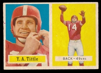 FB 57T #30 Y.A. Tittle
