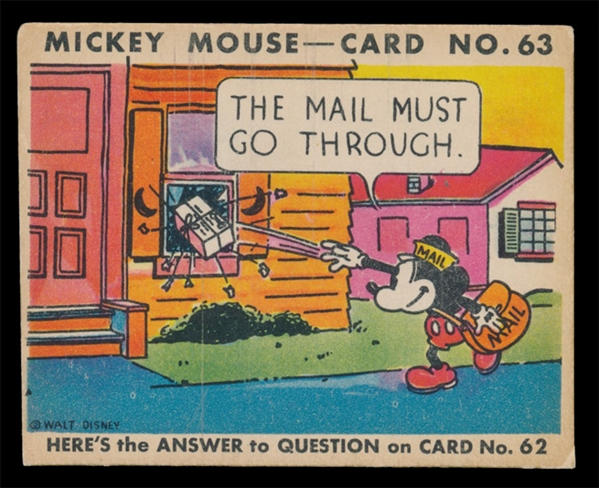 NS 1935 R89 Mickey Mouse #63 The Mail