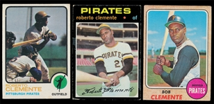BB (3) Roberto Clemente Cards